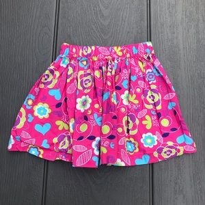 Hanna Andersson-girls pink cotton skirts-110 (4-6Y